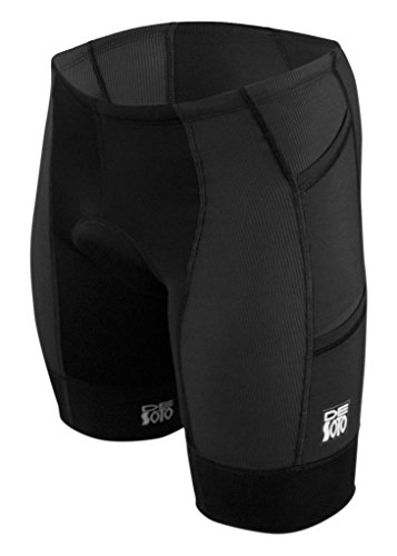 (De Soto Forza 4-Pocket Tri Short -2019 (Black, Medium))