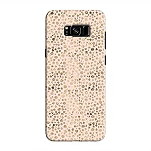 Cover It Up - Brown Pink Pebbles Mosaic Galaxy S8 Hard Case