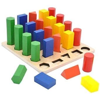 Gybber & Mumu Geometry Shape colorido escalera Montessori juguete de enseñanza, 25 piezas 1/paquete (10 unidades): Amazon.es: Industria, empresas y ciencia