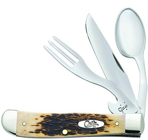 Case Amber Bone Hobo Pocket Knife