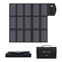 ALLPOWERS 100W Foldable Solar Panel, Portable Solar Charger (Dual 5v USB with iSolar Technology+18v DC Output) for… Health and Household