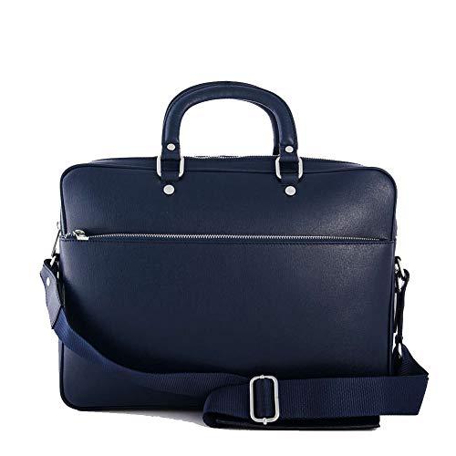 MAX Uomo Borsa Professionale vera pelle Porta MARANT Blu pc Ventiquattore in qzT4EwS