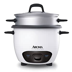 Aroma Housewares 14-Cup (Cooked)  (7-Cup UNCOOKED) Pot Style Rice Cooker and Food Steamer (ARC-747-1NG)