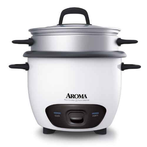 Aroma Housewares 6-Cup (Cooked)  (3-Cup UNCOOKED) Pot Style Rice Cooker and Food Steamer (ARC-743-1NG) by Aroma Housewares