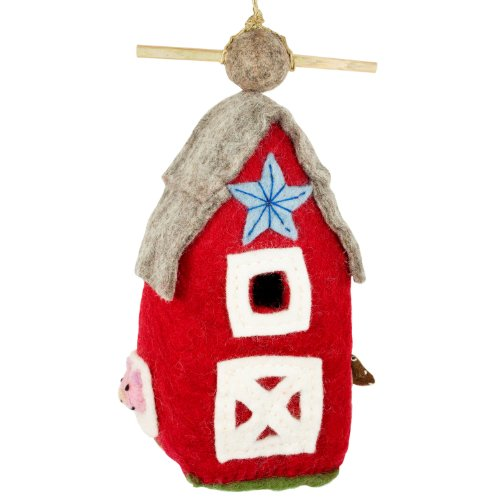 DZI Handmade Designs DZI484048 Country Barn Felt Birdhouse ()