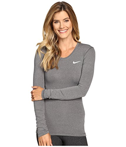 Nike Pro Cool Womens Training Top (X-large, Dark Grey/Heather/White)