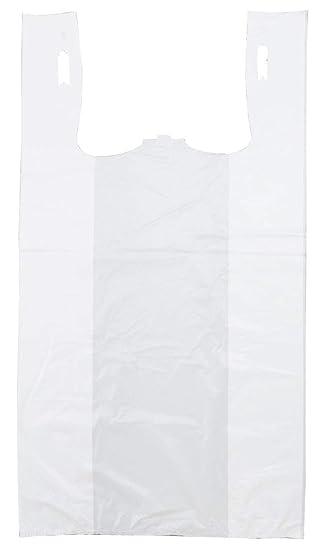 Plástico bag-standard blanco PLAIN camiseta bolsa 11.5