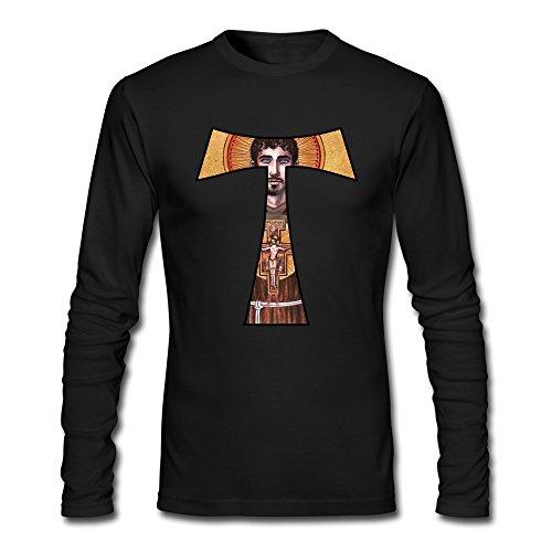 Men's St. Francis Of Assisi Tau Cross Long Sleeve T-Shirt Black ()