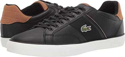 Lacoste Men's Fairlead Sneaker Black/Light Brown 9.5 Medium US
