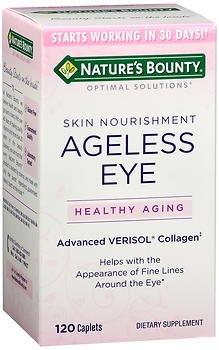 Natures Bounty Optimal Solutions Ageless Eye Verisol Collagen, 120 Caplets each (Value Pack of 2)
