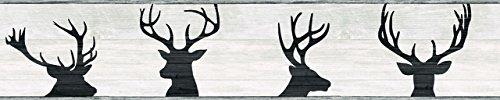 York Wallcoverings LG1460BD Deer Silhouette Border, ()