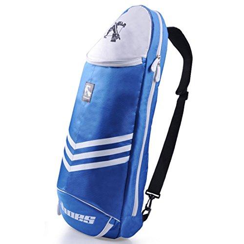 (Big Racquet Sports Bag Badminton Bag Waterproof Multi-layer Placement Tennis Racket Dacron Shoulder Bag by Xiaolanwelc )