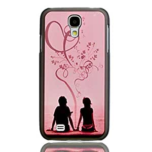 GONGXI-Romantic Lovers repujado Pintura Patrón cubierta del caso plástico trasero duro para el Samsung Galaxy S4 i9500