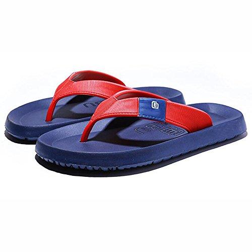 XIAOLIN Zapatillas de los hombres de verano Slip zapatillas al aire libre sandalias de goma Casual Beach Shoes hombres (tamaño opcional) ( Color : 02 , Tamaño : EU39/UK6.5/CN40 ) 02