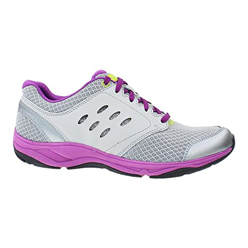 Vionic Womens Motion Venture Lace Up Athletic Sneaker Shoes, Silver, US 10