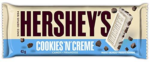 HERSHEYS Christmas Chocolate Candy Bar, Cookies N Crème, Gift, 36 Count