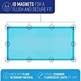 GlareShade Fluorescent Light Coverings   Magnetic