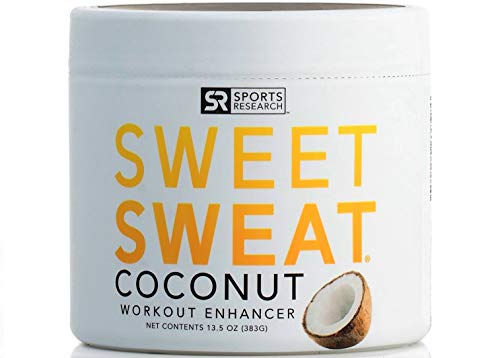 Sweet Sweat Coconut 'XL' Jar (13.5oz) | Helps increase Circulation, Motivation & Sweat during exercise | Made in the USA