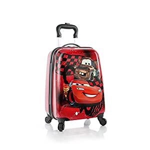 Heys Disney Kids Spinner Luggage - Cars Carry on Suitcase 18 Inch