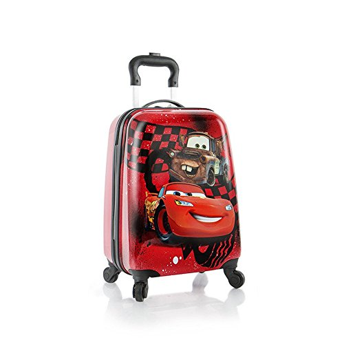 Price comparison product image Heys Disney Kids Spinner Luggage - Cars Carry on Suitcase 18 Inch