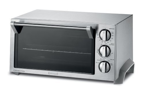 DeLonghi EO1270 6-Slice Convection Toaster Oven, Stainless Steel by DeLonghi