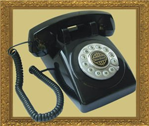 Paramount Retro 1950 Desk Phone Black with Touch Tone Rotary Design