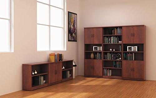 Alera ALE Valencia Series Bookcase, Six-Shelf, 31 3 4w x 14d x 80 3 8h, Med Cherry