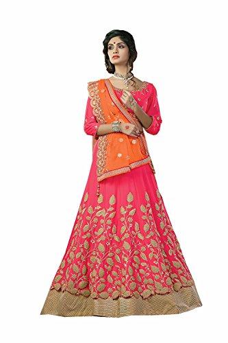 Da Facioun Womens Embroidery Pink Striking Lehenga Choli 80142