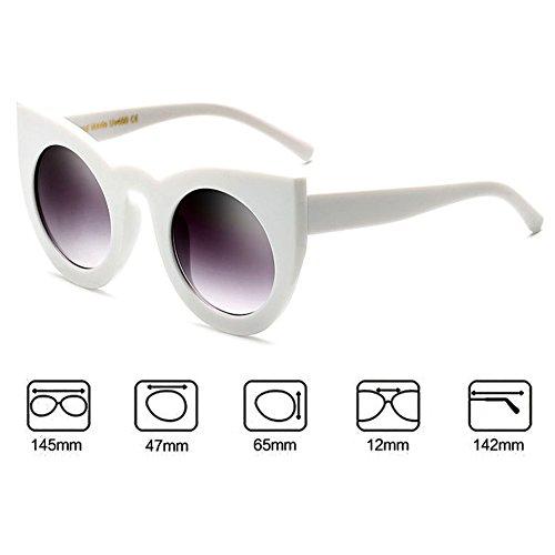 Femme Lunettes C4 UV400 Rond chat Vintage hibote Glasses Oeil soleil de de Sun tYqxApZH