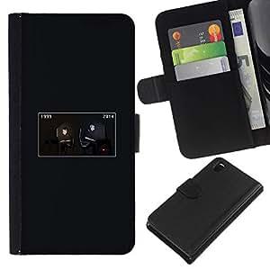 NEECELL GIFT forCITY // Billetera de cuero Caso Cubierta de protección Carcasa / Leather Wallet Case for Sony Xperia Z3 D6603 // Evolution Gaming