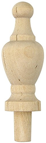Finial Wood - Platte River 801707, Wood Specialties, Spindles & Finials, 2-7/8