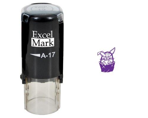 Easter Rubber Stamp - Easter Basket Stamp - Purple Ink (Basket Rubber Stamp)