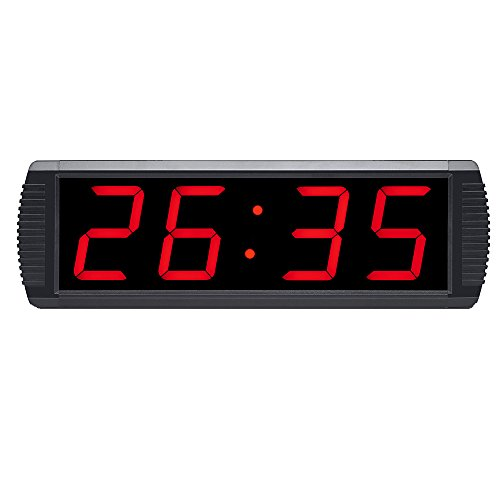 4'' Large LED Countdown Clock Sport Timer Count Down/Up In Minutes Seconds