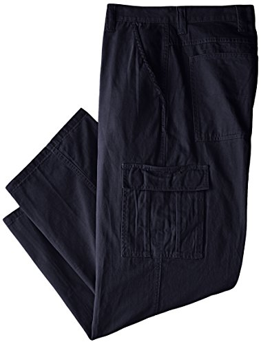 Wrangler Authentics Men's Big and Tall Classic Twill Relaxed Fit Cargo Pant, Navy Ripstop, 48 x 30 (Big X Twill)