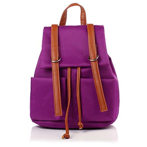 MSZYZ Mode Double Sac Femme Sac à Dos de Loisir Fashion Institute Vent à Dos violet