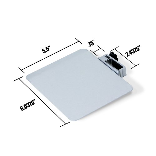 SOJITEK Silver Mousepad Attachable to Folding Laptop Notebook Tray Book Stand - DOES NOT INCLUDE LAPTOP STAND