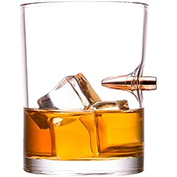 .308 Real Bullet hand-blown Whiskey Glass