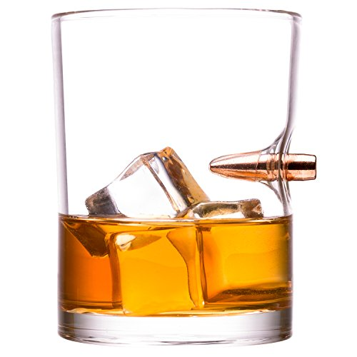 .308 Real Bullet hand-blown Whiskey Rocks Glass