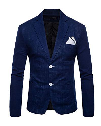 Cappotto Pulsanti Slim Marina Di Quge Giacca Militare Fit Vestito Blazers Casual Uomo Elegante Due Affari qvHHwX5g