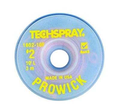 "Pro-Wick Desoldering Braid - .055"" x 10"" Yellow by Techspray"