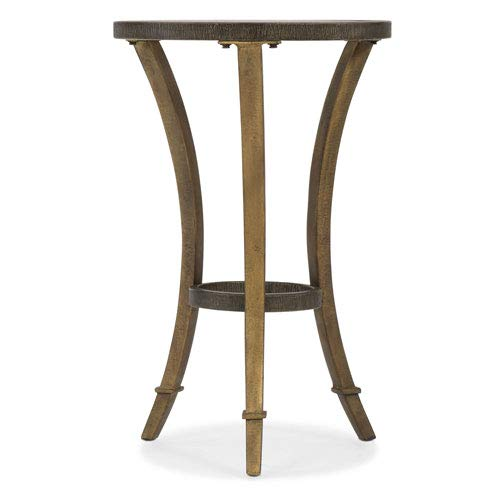 Hooker Furniture 16'' Round Glass Top Accent Martini Table in Gold by Hooker Furniture