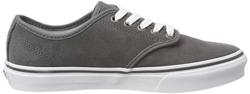 Top Pewter Sneakers Stripe Low Suede Women's Camden Grey Suede Vans Lg7 CHYqzXwH
