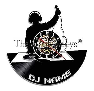 HHYXIN Reloj De Pared De Vinilo Tocadiscos DJ Wall Vinyl Record ...
