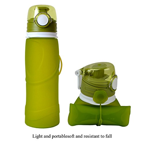 【同梱不可】 Collapsible Airlock Water Bottle with Airlock 750 Bottle Milliliter Milliliter/ 26オンス、Leakproof再利用可能な折りたたみ式スポーツウォーターボトル グリーン B073PZC7N4, 表参道レカン真珠パール専門店:e23ed553 --- a0267596.xsph.ru