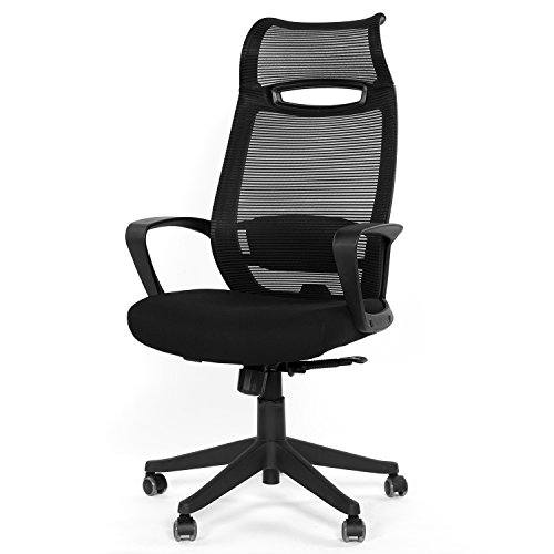 GreenForest Ergonomic Office Chair High Back Desk Chair with Headrest Swivel Mesh Computer Task Chair,Black