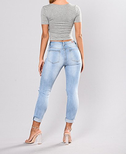 Maxi Yes Jeans De Mujer De Moda 2018 Colombianos Levanta Cola at Amazon Womens Jeans store