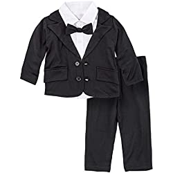 BIG ELEPHANT Baby Boys Tuxedo Suit Formal Party Set Wedding Outfit E16 Size 100 (18-24 Months)