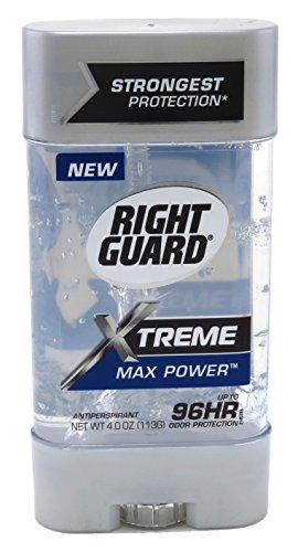 RIGHT GUARD XTREME 4 Ounce GEL MAX POWER