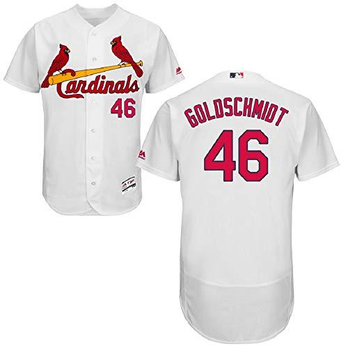 St. Louis Cardinals Majestic Home Flex Base Authentic Collection Paul Goldschmidt Jersey-White (M)