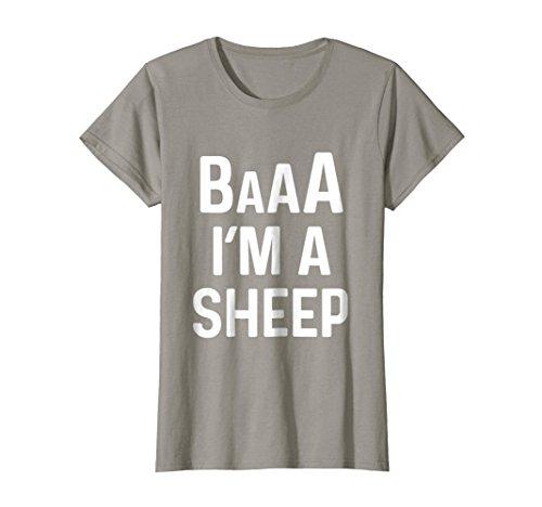 Womens I'm a Sheep Costume Shirt Funny Halloween Costumes Medium Slate -